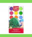 Акварелна боя, 18 цвята с UV защита