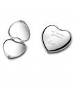 Engraved Women's Mirror Heart