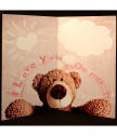 Huge postcard with Bear I Love you