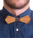 Bow tie of wood-brown