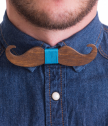 Bow Tie of wood mustache
