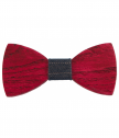 Bow tie of wood-red