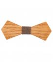 Папийонка от дърво - кафява