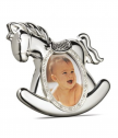 Silver plated frame for photo horsey