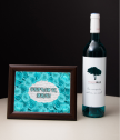 Gift Set wine and roses framed