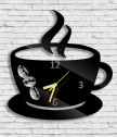 Wall Clock cup with coffee