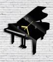 Clock piano, wall