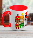 Ceramic mug with men super heroes
