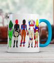 Ceramic mug with women super heroes