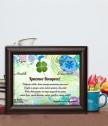 Пожелание в рамка с истинска детелинка за Великден